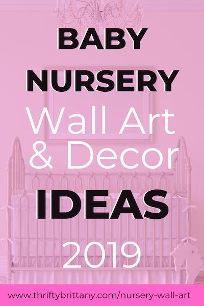 Nursery Wall Art Decor Ideas 2019 Thrifty Brittany